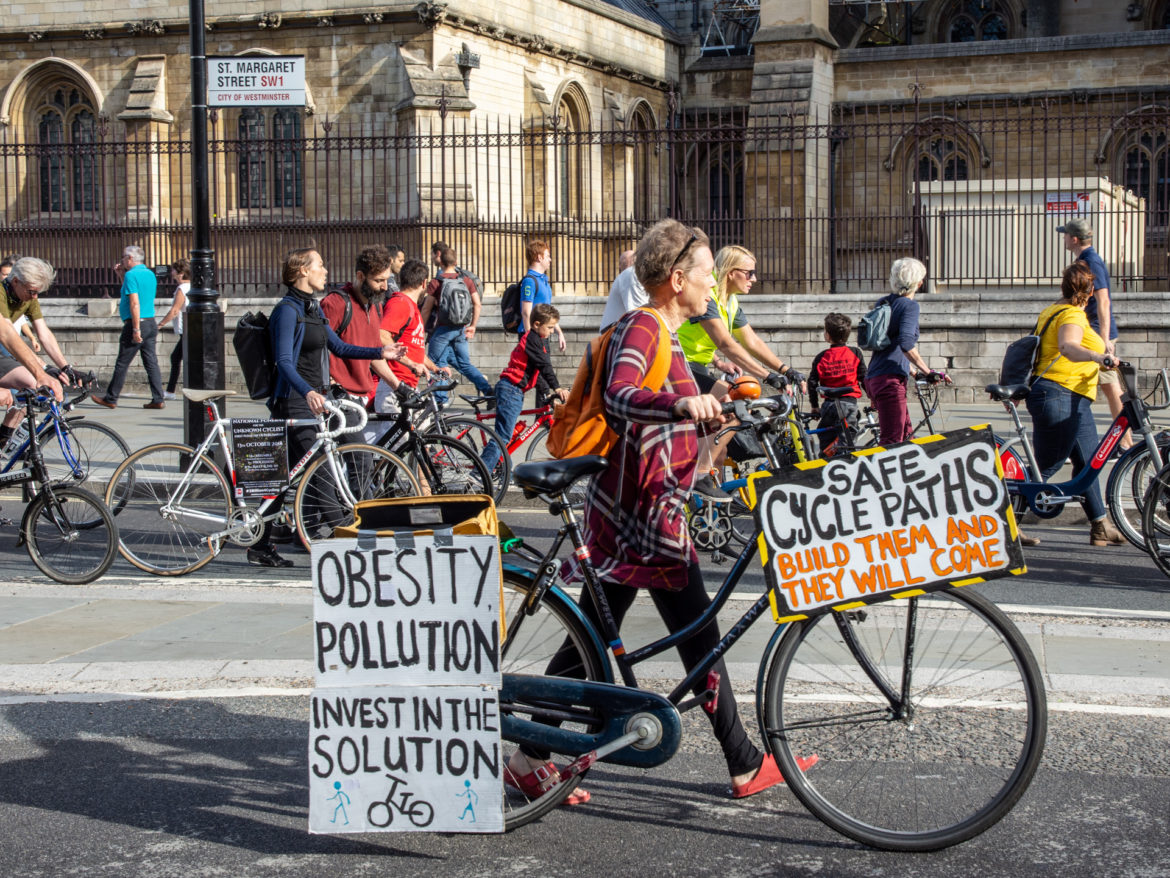 Stop Killing Cyclists Pedal on parliament - London UK